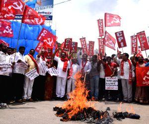 Leftists' demonstration