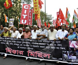 Left Trade Union's demonstration against 22 May police action