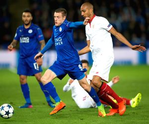 BRITAIN-LEICESTER-CHAMPIONS LEAGUE-ROUND OF 16-LEICESTER CITY VS SEVILLA FC