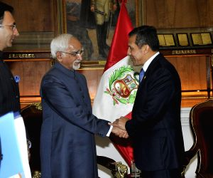 Indian Vice President Mohammad Hamid Ansari is on an official visit in Peru