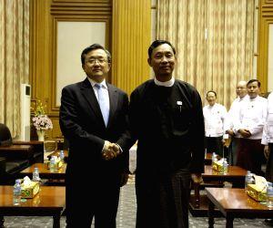 MYANMAR-NAY PYI TAW-LIU ZHENMIN-MEETING