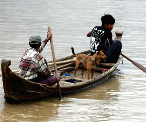MYANMAR SAGAING REGION MAGWAY REGION FLOOD