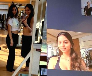 Lockdown diaries: Suhana Khan takes online belly dance lessons