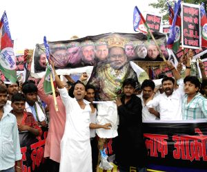 LJP demonstration against Bihar CM