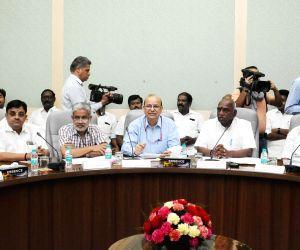 Lok Sabha Dy Speaker,TN Dy CM meet P. Radhakrishnan