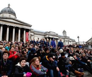 BRITAIN LONDON EASTER GOOD FRIDAY THE PASSION OF JESUS PERFORMANCE