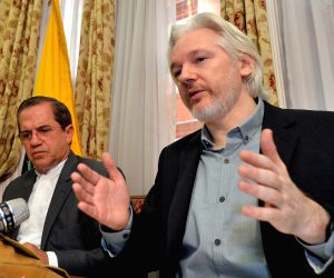 WikiLeaks founder Julian Assange attends a press conference
