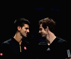 London (Britain): TP World Tour Finals - Novak Djokovic v/s Roger Federer