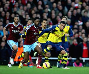 UK-LONDON-SOCCER-PREMIER LEAGUE-WEST HAM UTD VS ARSENAL