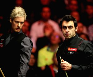 BRITAIN LONDON SNOOKER MASTERS O'SULLIVAN VS ROBERTSON