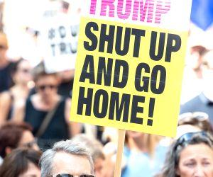 BRITAIN LONDON ANTI TRUMP PROTESTS