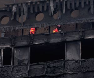 BRITAIN-LONDON-GRENFELL TOWER-FIRE-AFTERMATH