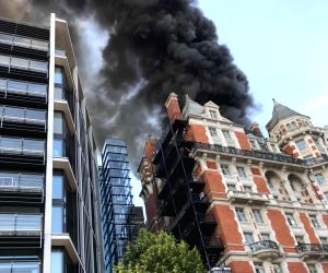 BRITAIN LONDON HOTEL FIRE