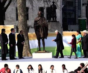 London (UK): Mahatma Gandhi's statue unveiled at London's Parliament Square