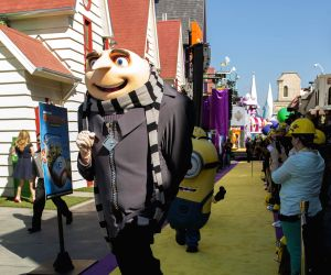 "The premiere of new 3D ultra HD digital animation adventure ""Despicable Me Minion Mayhem"""