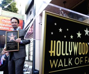 U.S.-LOS ANGELES-LIN-MANUEL MIRANDA-STAR HONORING CEREMONY
