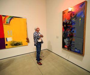 U.S. LOS ANGELES JASPER JOHNS EXHIBITION PREVIEW