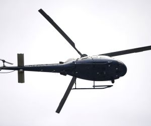 LOS ANGELES, June 1, 2016 - A helicopter hovers over the University of California's Los Angeles campus in Los Angeles, the United States on June 1, 2016. Two people have been shot dead Wednesday ...