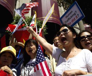 U.S. LOS ANGELES ABE PROTEST