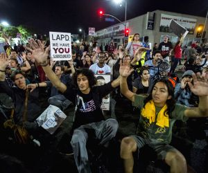 Los Angeles (United States): Ferguson protest