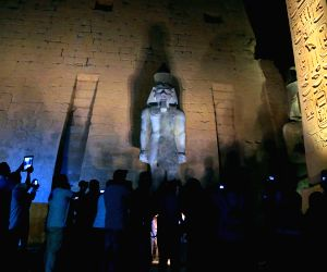 EGYPT-LUXOR-COLOSSAL STATUE-UNVEILING
