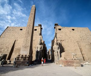 The Luxor Temple in south Egypt