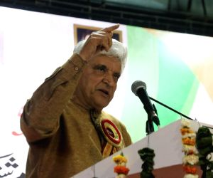 Javed Akhtar during a 'mushaira