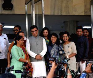 Balasaheb Thorat arrives to attend Uddhav Thackeray's swearing-in ceremony