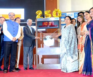 Bell ringing ceremony at the listing of 250 companies on SME