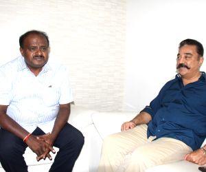 Kamal Hassan meets Karnataka CM H.D. Kumaraswamy