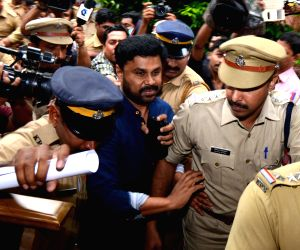Malayalam actor Dileep being taken to Aluva jail