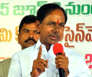 Telangana CM distributes land documents to homeless