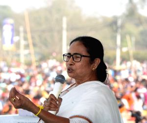 Mamata Banerjee rides e-scooter to protest petrol price hike