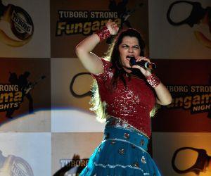 Mamta Sharma performs at Tuborg Strong Fungama Nights