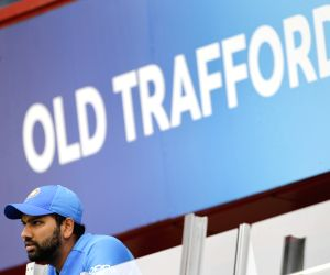 Manchester: India's Rohit Sharma watches the 1st Semi-final match of 2019 World Cup between India and New Zealand at Old Trafford in Manchester, England on July 10, 2019. (Photo: Surjeet Kumar/IANS)