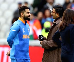 Excited Ranveer Singh hugs Virat Kohli post India's victory against Pakistan in World Cup 2019