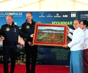 MYANMAR-MANDALAY-SOLAR IMPULSE 2-PRESS CONFERENCE