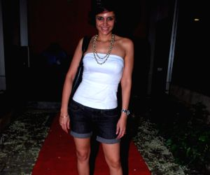 Mandira Bedi at Shaildendra Singh's birthday bash at Lower Parel.