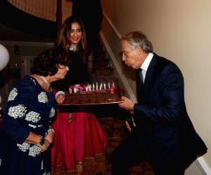 Manhattan (New York): Former British PM during a celebration