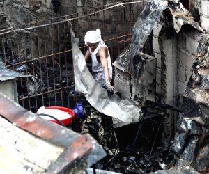 Manila (Philippines): Fire in a slum area