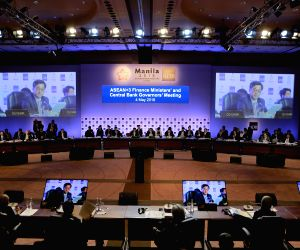 MANILA, May 4, 2018 - Delegates attend the 21st ASEAN+3 finance ministers' and central bank governors' meeting in Manila, the Philippines, May 4, 2018. The finance ministers and central bank ...