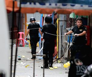 PHILIPPINE MANILA TWIN BLASTS INVESTIGATION