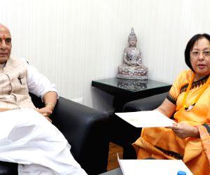 Najma Heptulla meets Rajnath Singh
