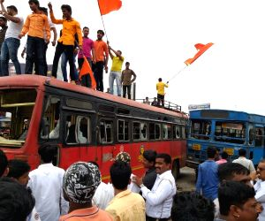 Maratha activists stage demonstration demanding reservation