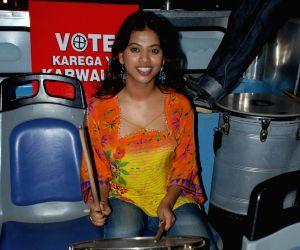 Marathi actress Priyanka at Red FM vote do campaign.