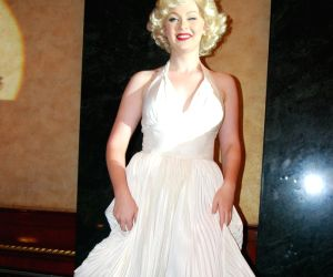 Marilyn Monroe look alike graces Resorts World Sentosa media meet at MUmbai.