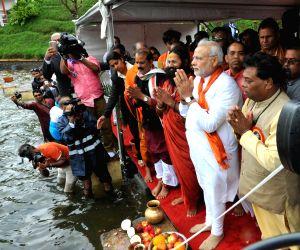 Modi visits Ganga Talao