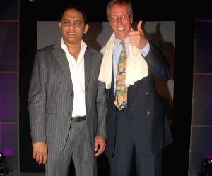 Md. Azharuddin and Mr. Daniel Rudolf at his bash.