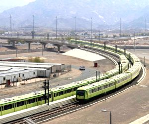 MECCA (SAUDI ARABIA), June 20, 2018 The Mecca Light Rail is tested in Mecca, Saudi Arabia, on June 20, 2018. China Railway Construction Corporation Limited (CRCC) started on Wednesday the ...