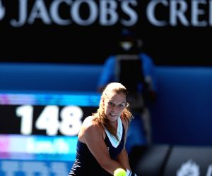 Women's singles semifinal match between Li Na of China and Eugenie Bouchard of Canada at 2014 Australian Open tennis tournament in Melbourne